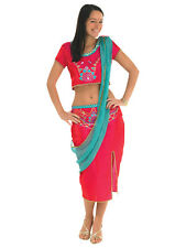 Ladies Bollywood Starlet Lady Hindu Indian Music Fancy Dress Costume Brand New!