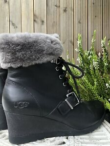 UGG Australia Black Ankle Boots Size 6