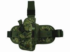 Woodland Digital Tactical Right Hand Drop Leg Gun Holster BB Air Pistol 207WR