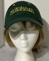 EUC ~Baylor Bears University NCAA Cap/Hat Green & Yellow Hook/Loop Closure OSFA