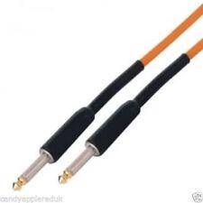 Câbles orange pour guitare et basse