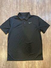 Mens Nike Dri Fit Size Medium Collared Standard Fit Black