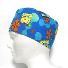Sponge Bob Scrub Hat, Surgical Cap, Skull Cap, Chemo Hat