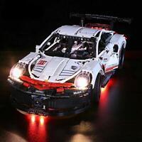New LED Light Kit for Porsche 911 RSR Model Lego 42096 USB Power