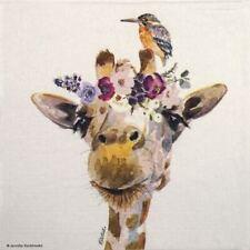 4x Paper Napkins for Decoupage - Jennifer Redstreake: Pretty Giraffe