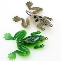 1X Weicher Fischköder Frosch Künstlicher Köder Silikonköder mit Angelhaken C2P1