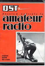 1932 (Aug.) QST Amateur Radio magazine, An Efficient Battery-Powered Transmitter