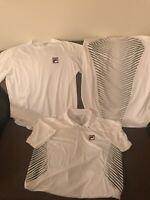 VTG Fila Sport Men's Athletic Performance Tennis Short  Shirt Sz L  Lot Of 3 !!!