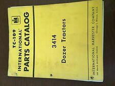 INTERNATIONAL 3414 TRACTOR DOZER CRAWLER SKIDSTEER LOADER PARTS CATALOG MANUAL
