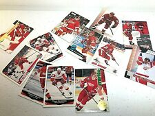 12 Trading Card Vintage Red Wings Lot- Ice Hockey Collection