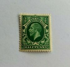 1924 George V Half Penny 1/2d Stamp Green