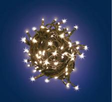 LUCI Catena 240 LED Batteria BIANCO CALDO LOTTI Interno Esterno Albero Natale