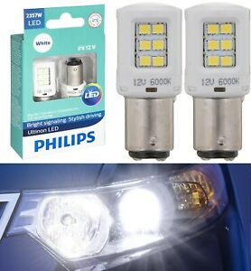 Philips Ultinon LED Light 2357 White 6000K Two Bulbs Stop Brake Replacement Fit