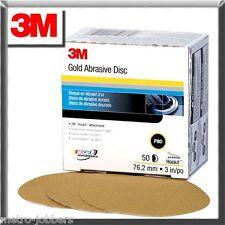 "3M 0913 913 Hookit Gold 3"" P400A Grit Disc 50 Discs Per Box"