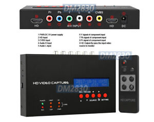 Premium 1080p HD/SD DVR Scheduled Recording + HDMI Component Video RCA AV Inputs