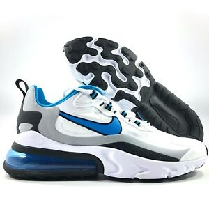 Nike Sportswear Air Max 270 React White Blue Grey Black CT1280-101 Men's 10-10.5