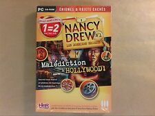 JEU PC CD ROM / ENIGMES ET OBJETS CACHES / NANCY DREW, MALEDICTION A HOLLYWOOD