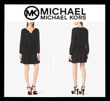 MICHAEL KORS METALLIC JACQUARD DRESS SEXY COCKTAIL SZ S BLACK (NEW) MRSP $175