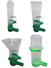 Bird Feeder Waterer Drinker Funnel Plastic Cage Aviary Dispenser Hopper Clip on