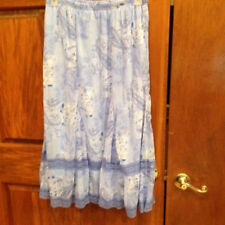 Studio 1940 Skirt Blue Size 22 24 Long Sheer Lined Flared Lace
