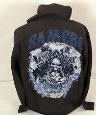 Blowout! New Sons Of Anarchy V-Twin Grim Reaper Samcro Soa Hoodie Sweat Shirt M