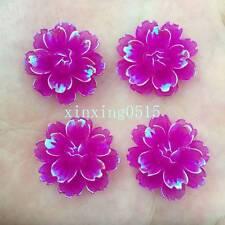 Hot DIY 12pcs 25mm AB Resin 3d flower Flatback Rhinestone Wedding buttons crafts
