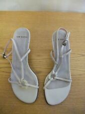 Ladies Sandals Ted Baker ivory leather UK 3 EU 36, strappy slingback, used 3178