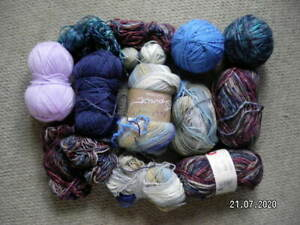 Mixed Selection of Balls of Chunky Wool. All Very Clean.