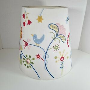 IKEA Large Colourful Embroidered Light Shade Flowers & Bird Design Ceiling/Lamp