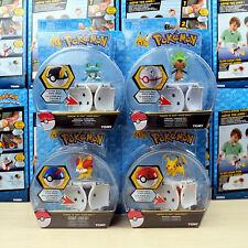 4 X Tomy Pokemon Go Pikachu Throw 'n' Pop Poke Ball Action Figures Doll Kids Toy