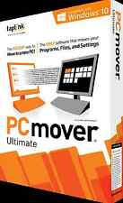 PCmover Ultimate with SafeErase - Windows 10, 8, 7, Vista and XP - NEW