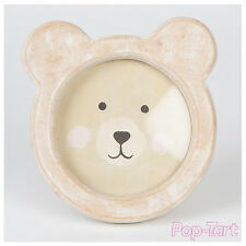 Rustic Wooden Bear Photo Frame Shabby Chic Cute Animal Novelty Picture Holder