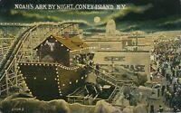 BROOKLYN NY - Coney Island Noah's Ark By Night