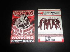 * N Sync Backstage Passes (2) Us Now Tour 1999 No Strings 2000