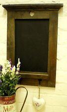 Rustic Wooden Blackboard Chalk Board with Hooks Memo Message Heart Kitchen DS