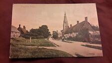 Old postcard of Langham Village, Rutland - Valentine series