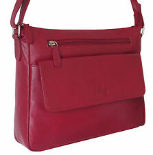 45% Off Rowallan Red Leather Shoulder Bag