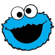 "Cookie Monster Sesame Street Vynil Car Sticker Decal   5"""