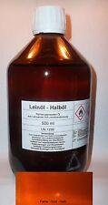 500 ml haute qualité leinölfirnis, vernis, grundieröl, Huile de lin Térébenthine