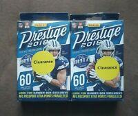 (2) 2018 Panini Prestige NFL Football Sealed Hanger Boxes ~ 60 Cards Per Box