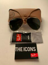 Ray-Ban Aviator Sunglasses RB3026 L2846 62-14mm Gold Frame with Green Lenses