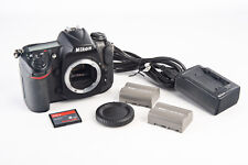 Nikon D300 12.3MP Digital SLR Camera Body with 2 Batteries Cap 7120 Shutter V14