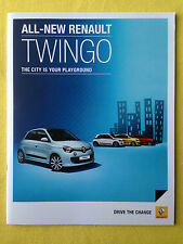 Renault Twingo paper brochure sales catalogue September 2014 MINT PERFECT
