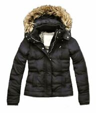 Abercrombie & Fitch Corrine Faux Fur Down Jacket Dark Gray $200 XS