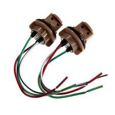 2x T20 7443 Bulb Socket Brake Turn Signal Light Harness Wire LED Tail Plug Good