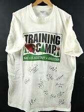 VINTAGE 1998 ARIZONA CARDINALS TRAINING CAMP SIGNED T-SHIRT SIZE L