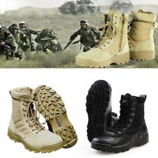 Men Army Leather Military Work Boot Tactical boots Tactical Resistant Sole Shoes