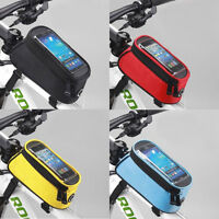 Bike Bicycle Iphone Handbar Mount Holder Cycling Pannier Mobile Phone Bag Pouch