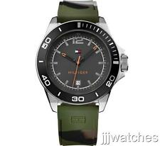 New Tommy Hilfiger Camouflage Silicone Band Men oversize Watch 50mm 1791152