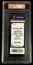 KRIS BRYANT 1ST GAME MLB DEBUT 4/17/15 CHICAGO CUBS  FULL TICKET PSA MINT 9